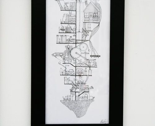 Ellie Compton: The Ex's New Zealand Artist that intertwines architecture and Narrative in complex hand drawings