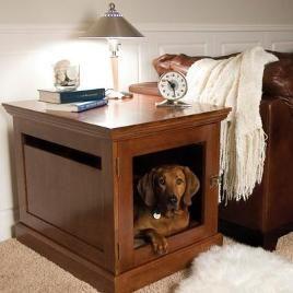 Bedside Dog KennelGood Ideas, Bedside Dogs, Townhaus Dogs, Dogs Crates, Puppies Dogs, Dogs Kennels, Dog Crates, End Tables, Dog Kennels