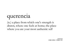 words Home submission q strength Be yourself definitions Spanish places safe personal favorites noun otherwordly other-wordly unusual words strange words otherwise known as tumblr the place where you are your most authentic self querencia untranslatable untranslatability andrew w.