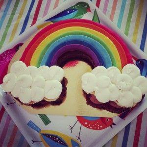 gâteau arc-en-ciel Bogato 5 ans frimousse, une maman blogueuse