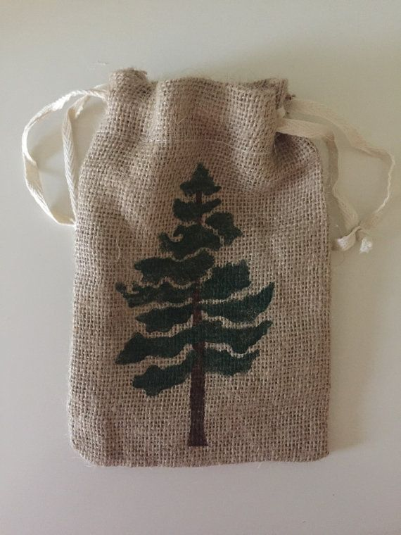 Woodland Burlap Bag Tree Bag Outdoor Mountain Wedding