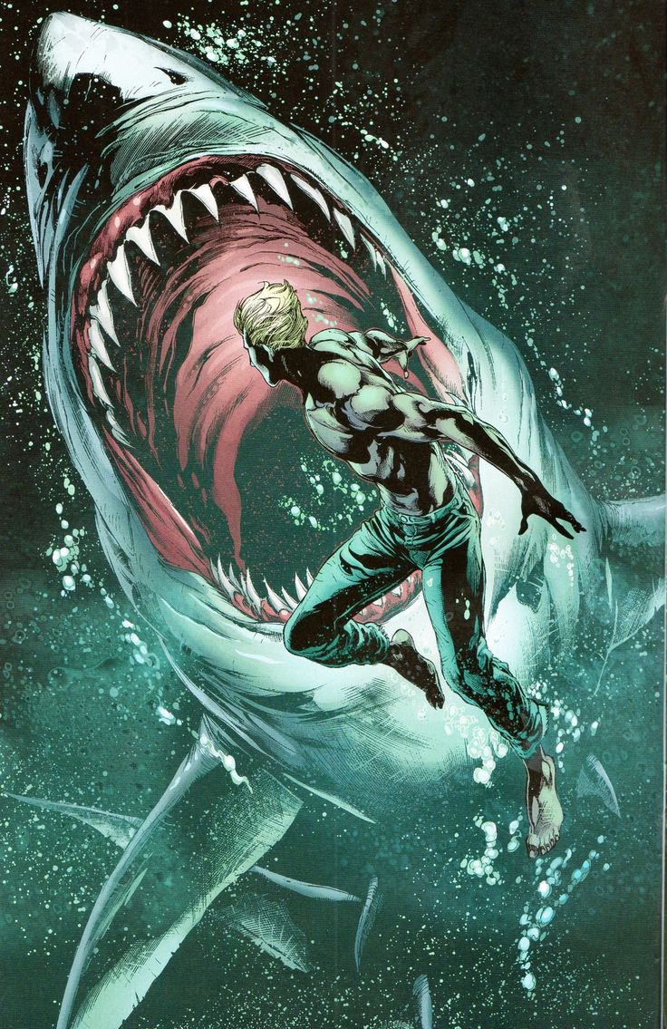 Aquaman vs. Shark After years of sticking with the mainstream I have decided this: Aquaman is my new favorite superhero (well... DC superhero...)