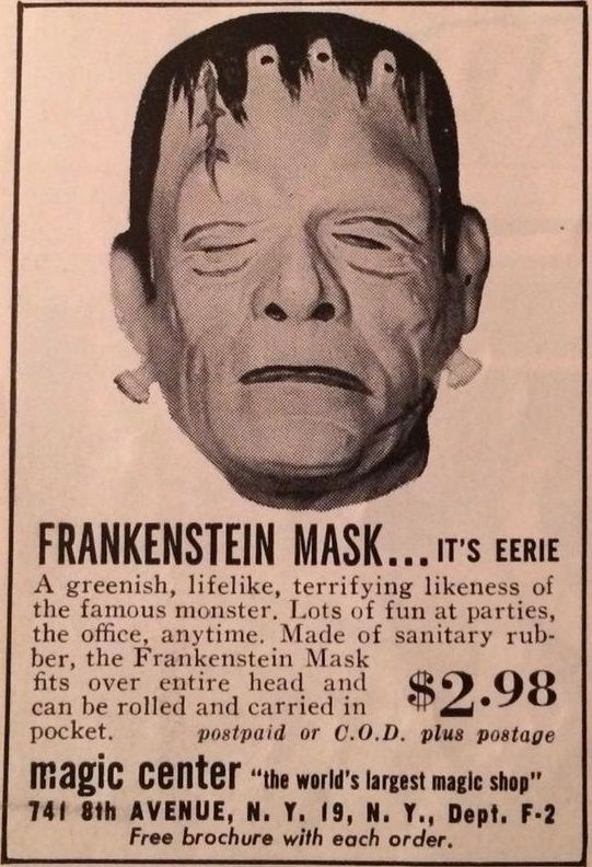 Frankenstein Mask Ad.