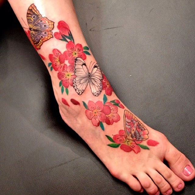 77 best butterfly and flower tattoos images on pinterest. Black Bedroom Furniture Sets. Home Design Ideas