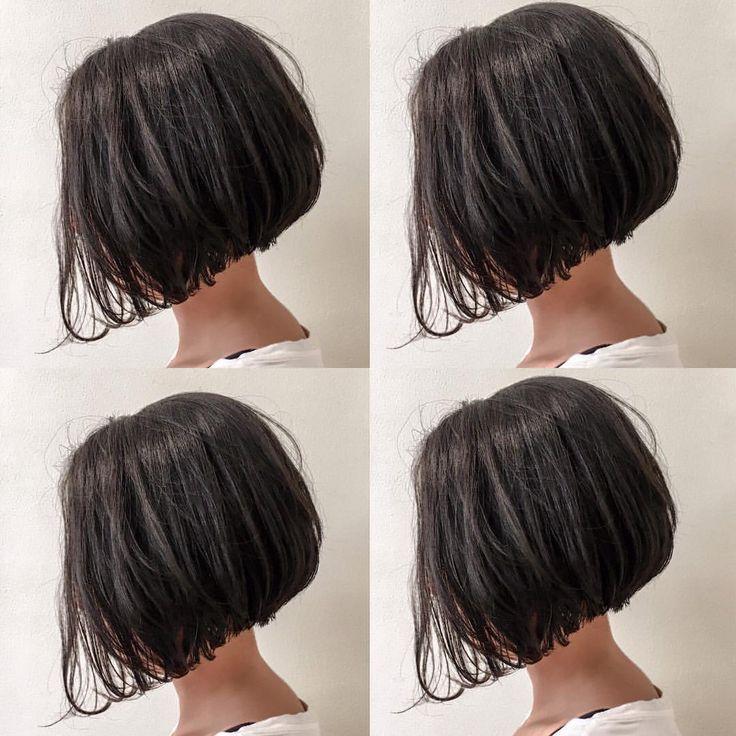 あごラインのリトルブラックボブ✂️ 黒髪でも重く見えないレングスでヌケ感を出します✨✨ カット✂︎7200 #hair #bob #shima #shimaplus1 #シマ #クルーエル#ぱっつんボブ#fudge #前下がりボブ #tokyo #アンニュイ #黒髪ボブ #blackhair #fashion #ファッション #大人ミューズ #リトルブラックボブ #id #ブラントカット #ボブヘア #ショートボブ