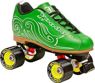 Women 16261: Sale! New! Labeda Voodoo U7 Green Quad Speed Roller Skates Womens Sz 5-11 $250 -> BUY IT NOW ONLY: $116.98 on eBay!