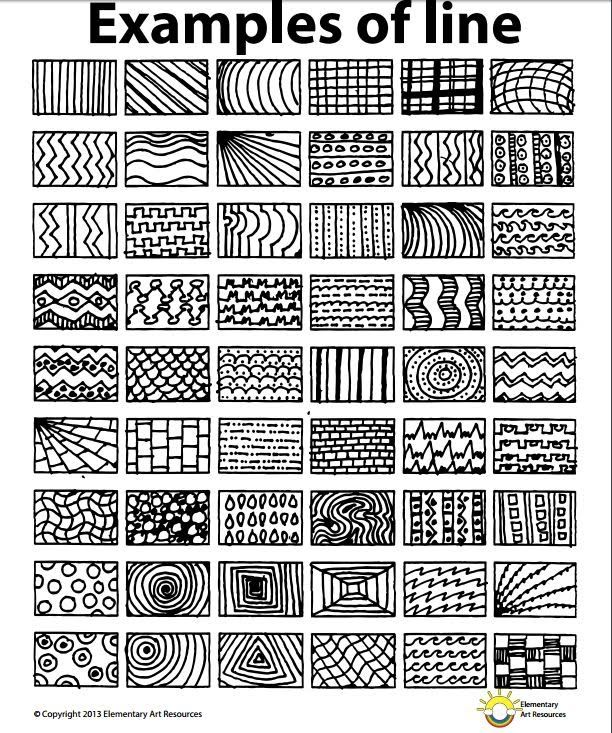 Line, pattern, rhythm, Lesson One Element of Line - Year 5 2016