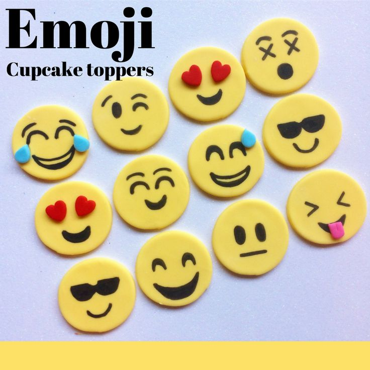 how to make emoji fondant topper