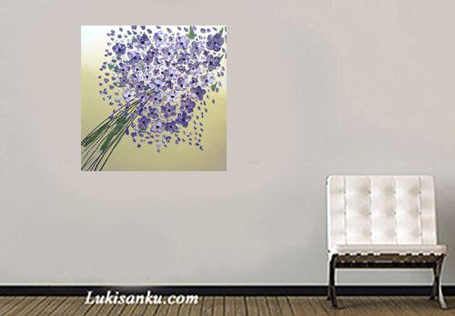 Lukisan Bunga D1-UG Ukuran : 70 x 70 cm Berat : 4kg  link: http://lukisanku.com/product/1/902/Lukisan-Bunga-D1-UG/?o=terbaru