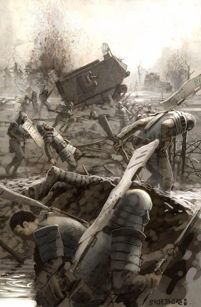 Japanese troops make a daring Banzai charge across No Man's Land!
