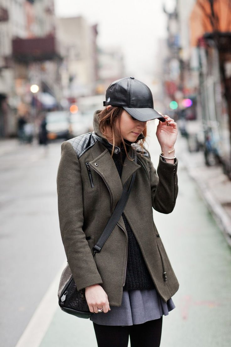 New York City Fashion And Personal Style Blog Leather Baseball Cap