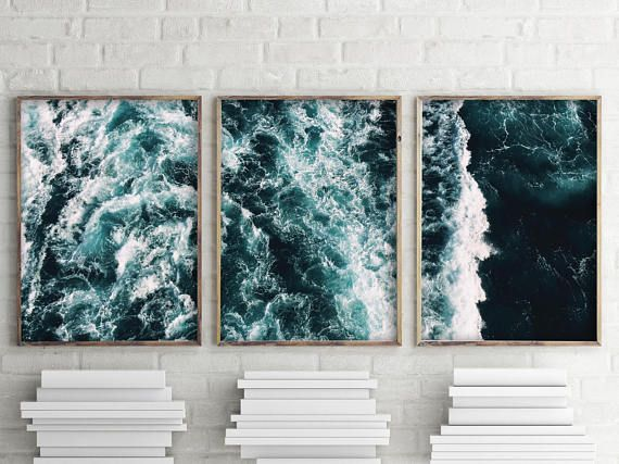 Beach Wall Art Print Print Set Of 3 Prints This Artwork Is Beach Wall Art Wall Art Prints Ocean Art