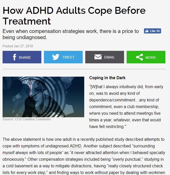 How ADHD Adults Cope Before Treatment | Psychology Today
