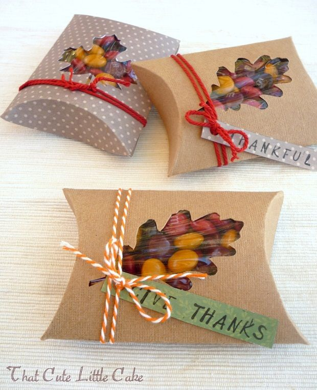 Thanksgiving Favor Box DIY