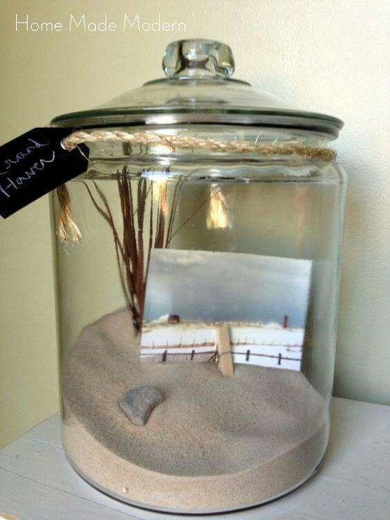 Preserving trip memories in a bottle (or jar)