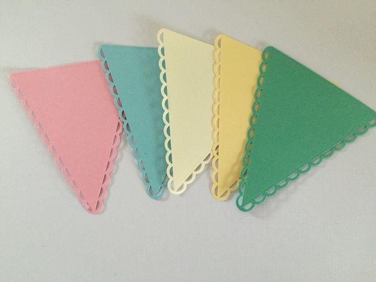 Papieren slinger groen van GH design op DaWanda.com