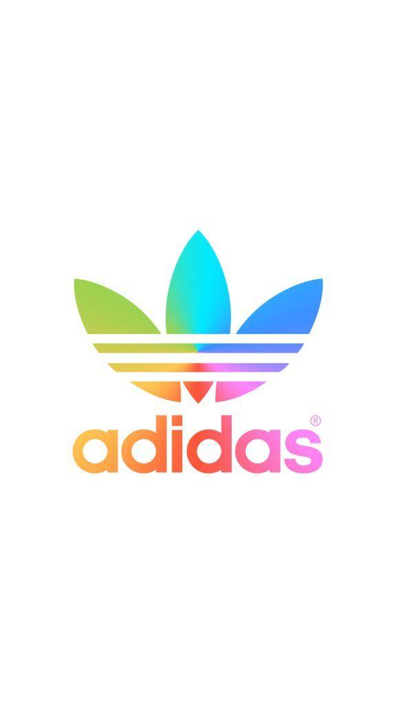 [レインボー]アディダスロゴ/adidas LogoiPhone壁紙 iPhone 5/5S 6/6S PLUS SE Wallpaper Background