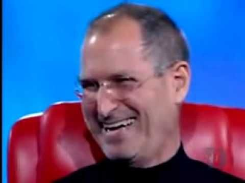"""iSteveVideo: lightest/cutest/funniest/most humane moment between 2 tech foes: Steve Jobs makes joke & shares a laugh with Billy Gates ; ) at D5 conference 2007-12-24 (http://allthingsd.com/category/d/d5)  • Steve's quote """"'Apple is like a ship with a hole in the bottom, leaking water and my job is to get the ship pointed in the right direction."""" (context: refers to Gil Amelio – CEO he replaced in 1997 on his 2nd Coming ; )"""