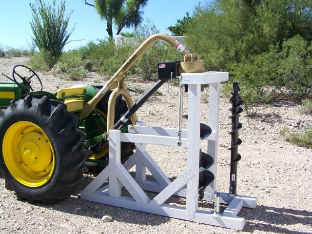 POST HOLE DIGGER STAND | Completed Post Hole Digger Stand | RANCH STUFF | Compact tractors, Tractor implements, Woodworking projects