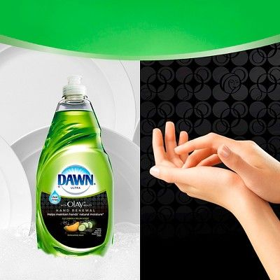 Dawn Hand Renewal with Olay Dishwashing Liquid Cucumber & Melon 28 Oz