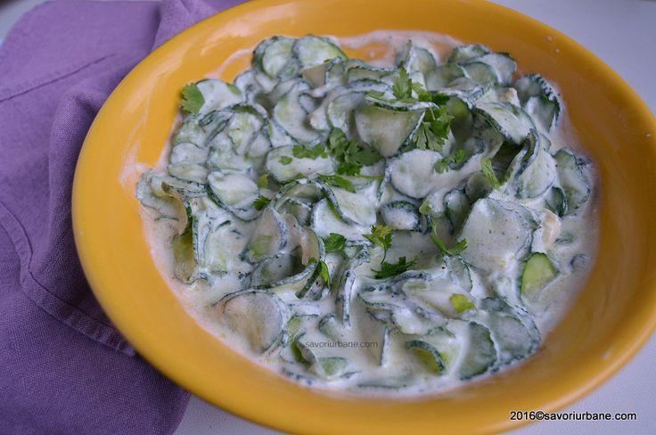 Salata de castraveti cu lapte batut si iaurt (1)