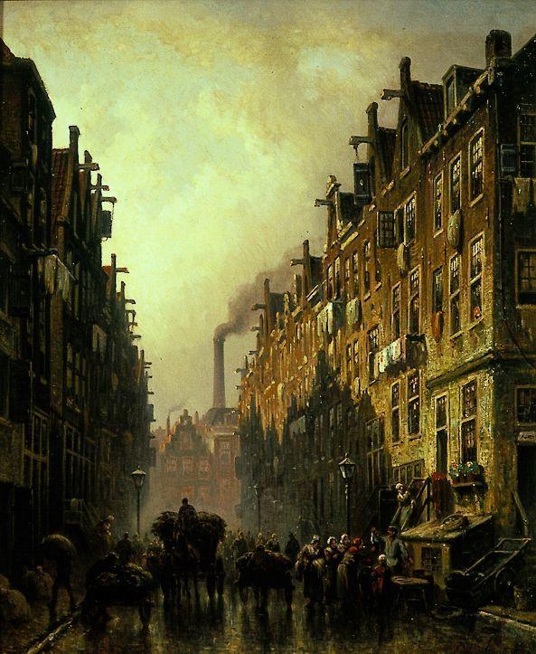 Eduard Alexander Hilverdink - Jewish Quarter in Amsterdam, 1889