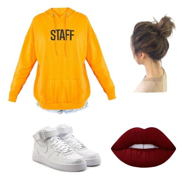 """""""Baddie af"""" by vankaa on Polyvore featuring Boohoo, NIKE and Lime Crime"""