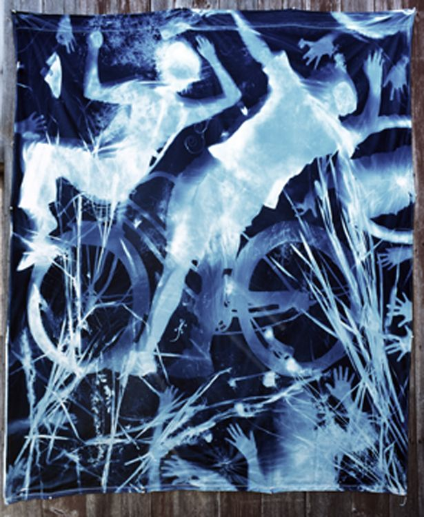 Christopher James Photography | Alternative Process | Cyanotype Cotton Cyanotype Mural