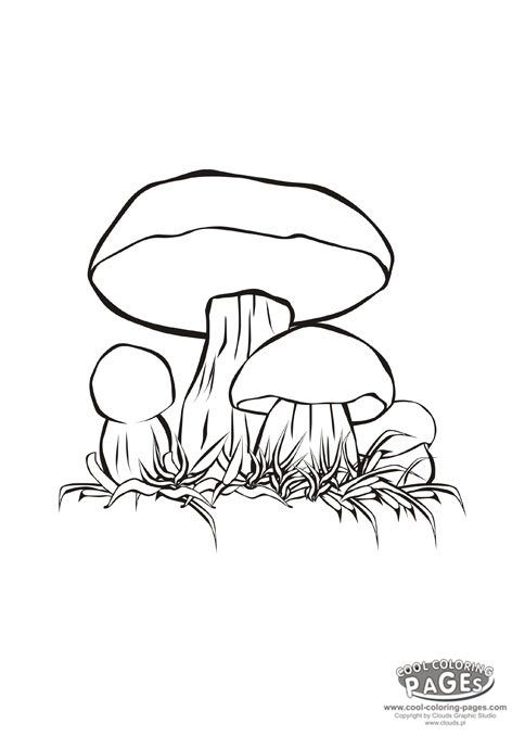cartoon mushrooms coloring pages - photo#23