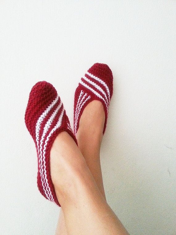 Claret red Healthy Booties Home slippers Dance by NesrinArt, $19.00: