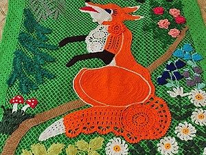 """Детское покрывало """"Лиса и Колобок"""" своими руками - Ярмарка Мастеров - ручная работа, handmade"""