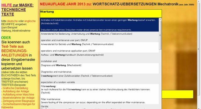 Translation of Technical Texts (german-english sentence translator) - Bild 1