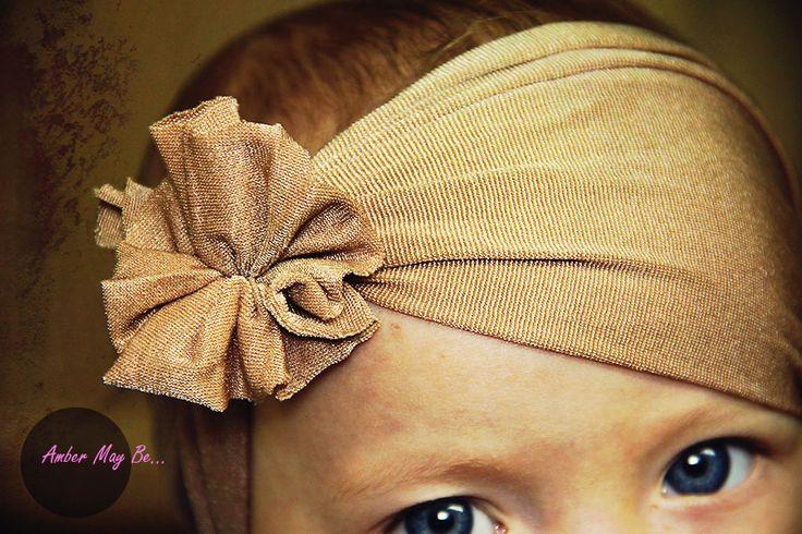 Pantyhose Baby Headband 3