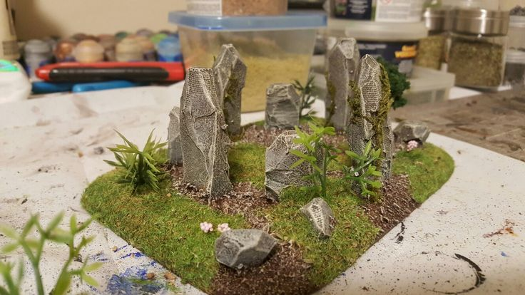 A little stone circle for Jay's gaming table.