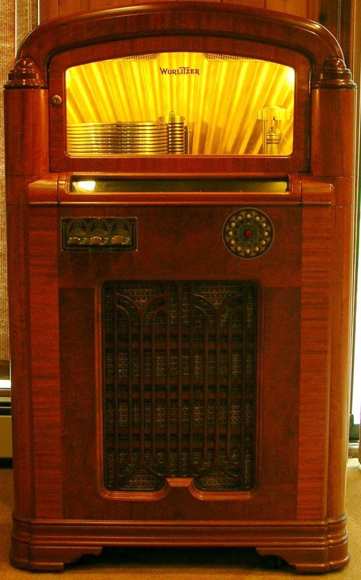 1936 Model 412 Wurlitzer   Jukebox, Jukeboxes, Antique radio