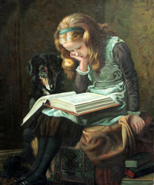 This reminds me of my daughter as she reads.