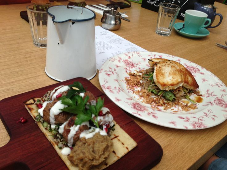Delicious #gordonstreetgarage  Swordfish + lamb koftas + quinoa + soba noodles