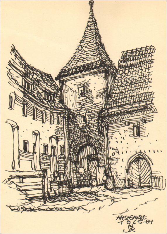 Wrocław, wieża na dziedzińcu arsenału miejskiego