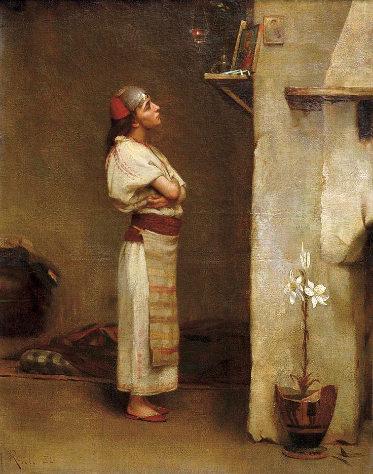 Theodoros Ralli (Greek, 1852-1909). Devotion, 1886