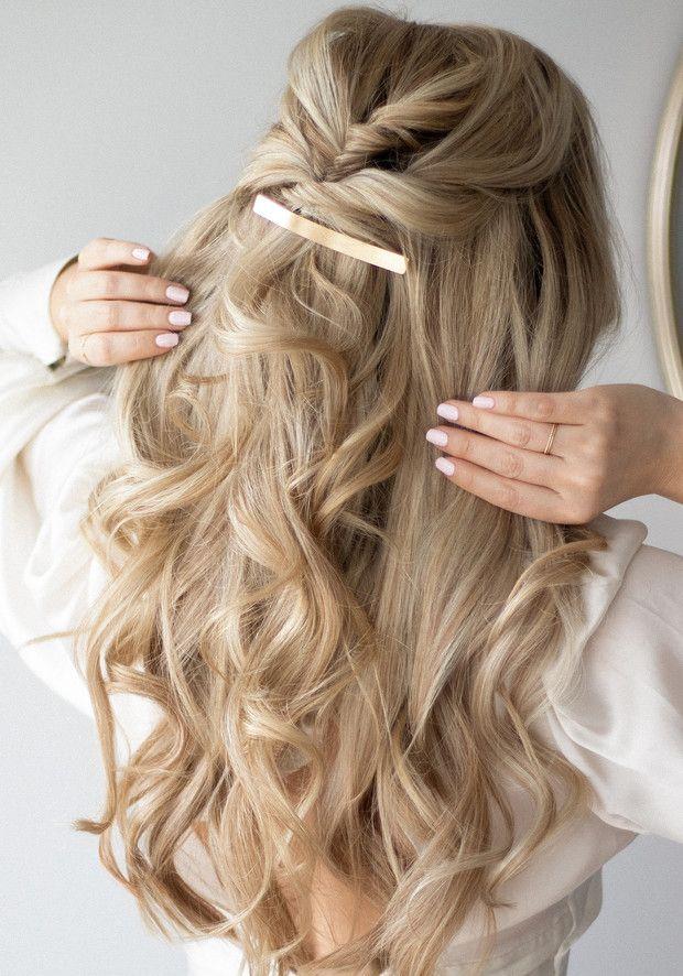 Aquí los hairstyles perfectos para las que quieren presumir el largo de su cabello, estilizar sus rasgos y lucir arregladas al mismo tiempo: los peinados semi-recogidos! Bride Hairstyles, Healthy Hair, New Hair, Hair Beauty, Classy, Glamour, Long Hair Styles, Wedding, Beautiful