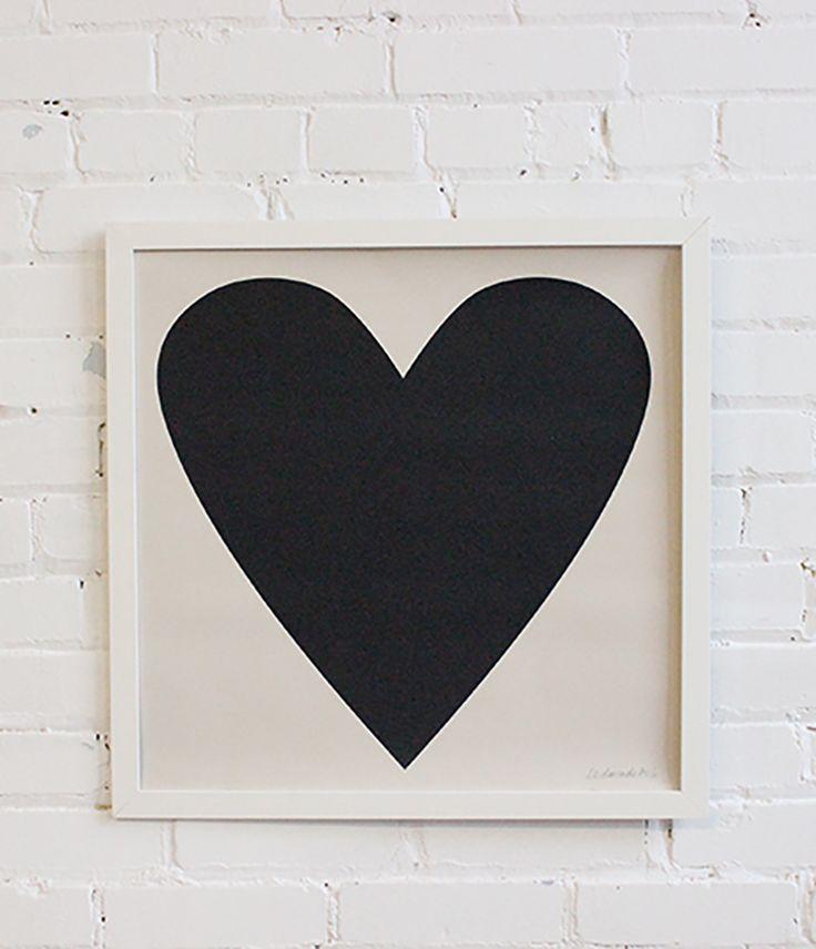 ScreenPrint – Soft Black Heart - From Baba Souk