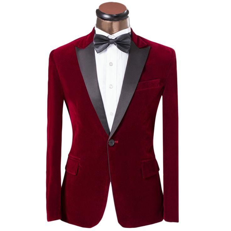 New Luxury Fashion Brand Groomsmen Dress Wedding Suit For Men 2016 Groom Classic Red Suits Slim Fit Tuxedo Jacket Pants Blazer