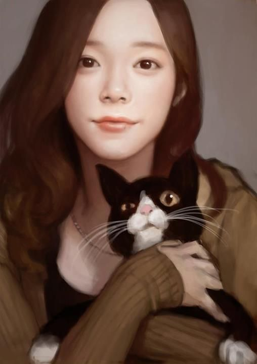 women n cat. from S.korea illustration KB