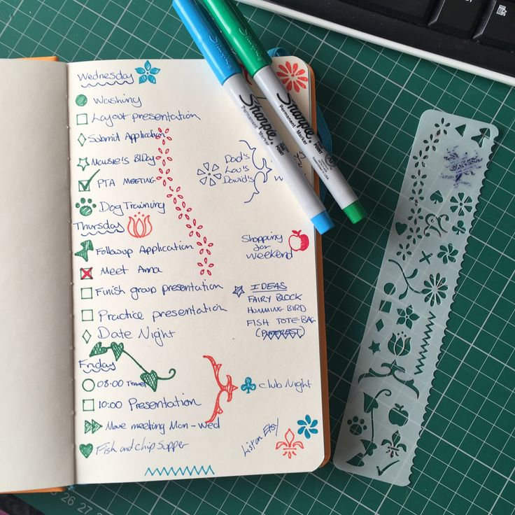 Bullet Journal Stencil Bookmark,perfect for notebooks & Planners by SprattsDesigns on Etsy