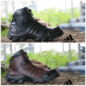 Sepatu Adventure Tracking Hiking Pria Adidas Obitrex Ujung Besi Waterproof - Coklat List Hitam ( Gudang Sepatu, Toko Sepatu Murah, Grosir Sepatu ,Terlaris, Cuci Gudang )