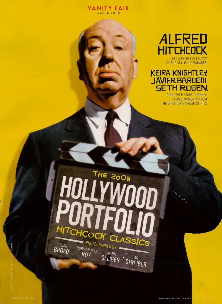 Alfred Hitchcock Aniversario: Vanities Fair, Hitchcock Classic, Alfred Hitchcock, Classic Hollywood, Film Poster, 2008 Hitchcock, Android Niceti, Hitchcock Hollywood, Fair 2008