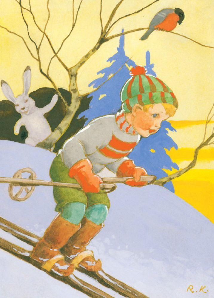 Vintage Christmas Art by Rudolf Koivu