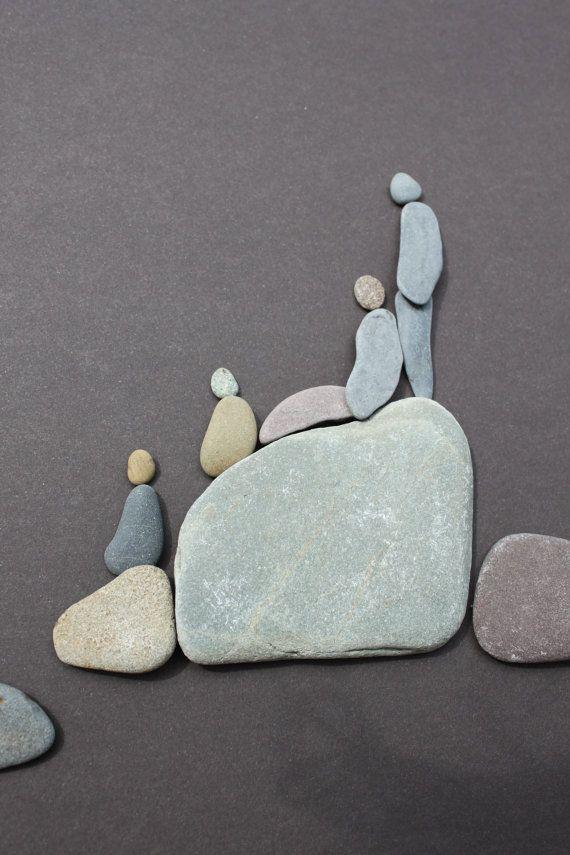 Pebble Art from Nova Scotia.