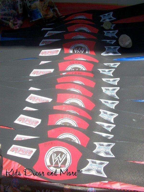 wrestling belts DIY birthday party boy
