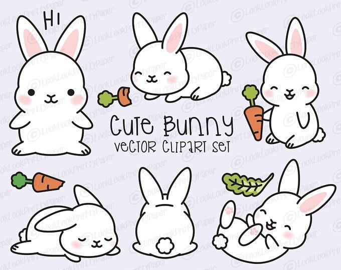 Premium Vector Clipart - Kawaii Bunny - Cute Bunny Clipart ...